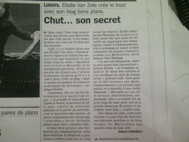 La Provence - été 2012 Chutmonsecret dévoile ses secrets