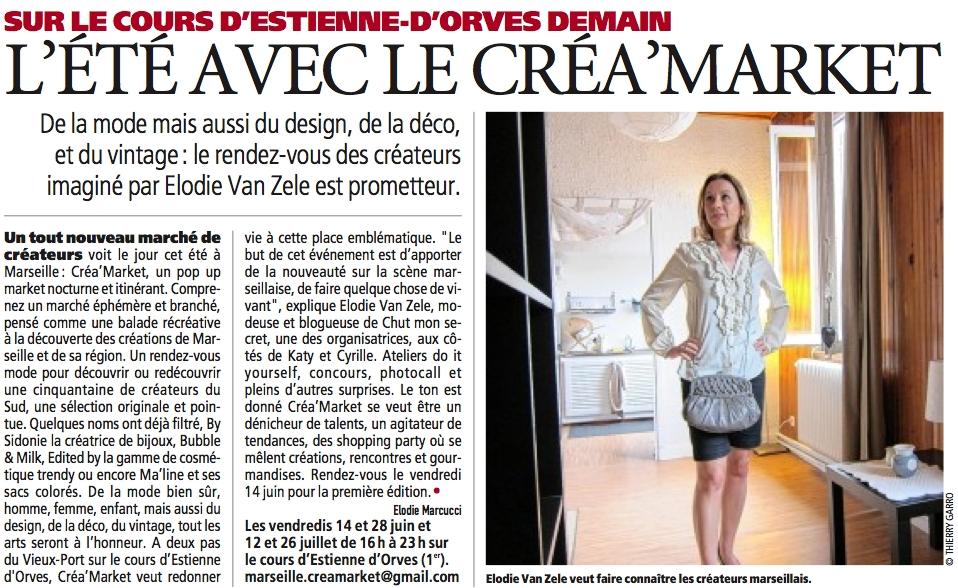 Direct Matin 2013 - Miss Chutmonsecret organisatrice de Créa'Market