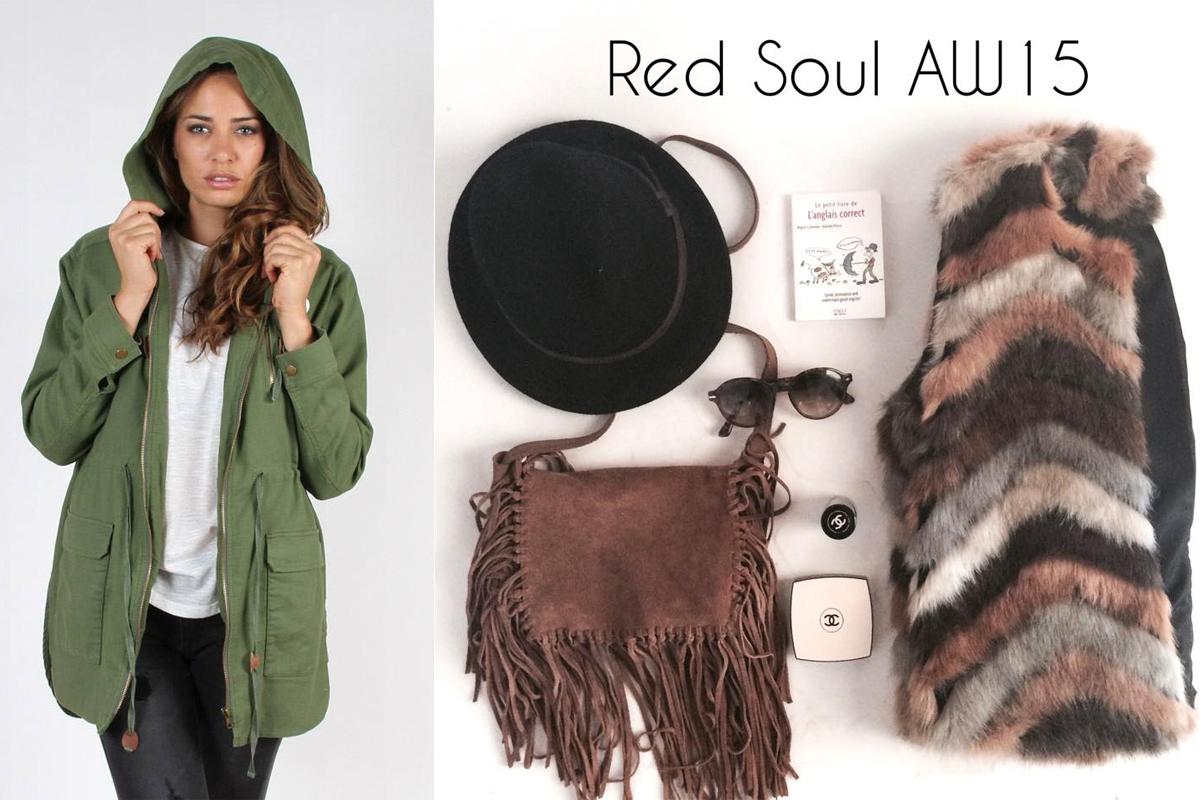 red soul fur coat