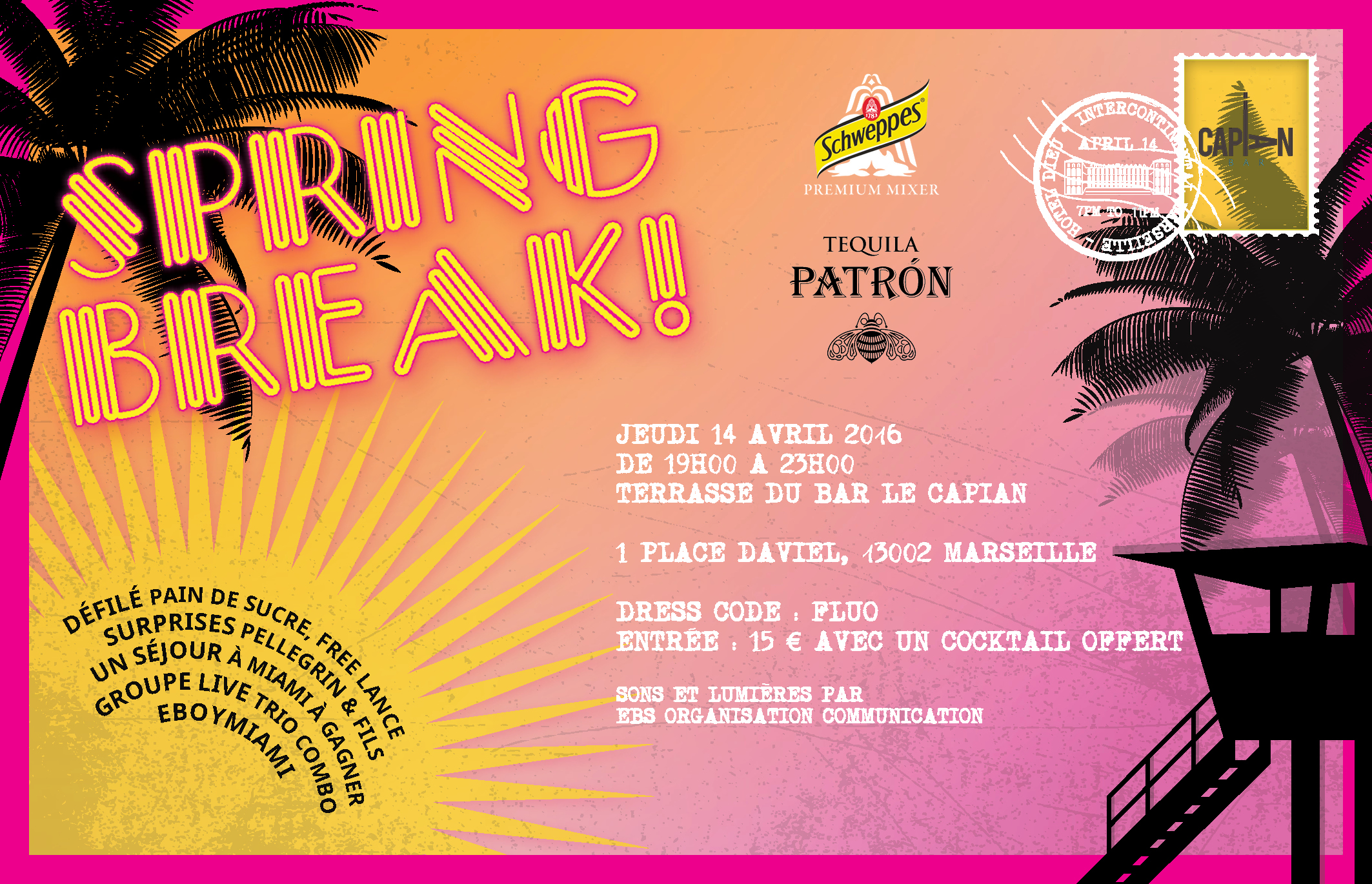 Flyer-Soirée Spring Break
