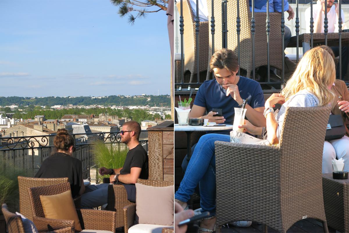 les clients du rooftop
