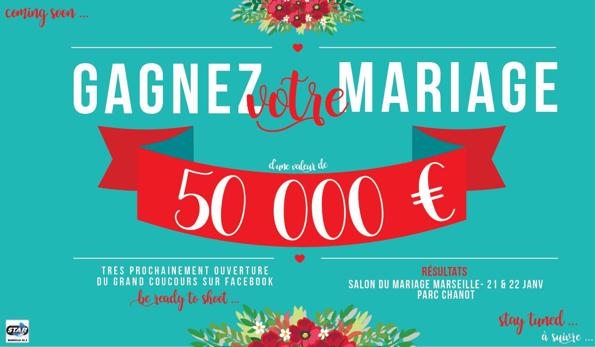 Cadeau de mariage 50 euros